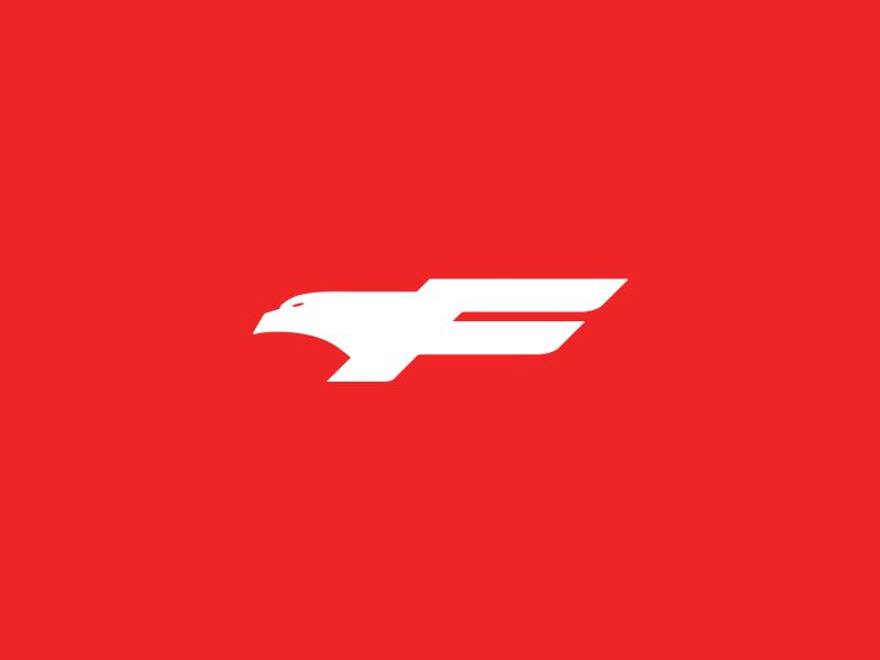 Free Spirits red eagle vector minimal logo illustrator illustration identity icon graphic design flat design clean branding brand