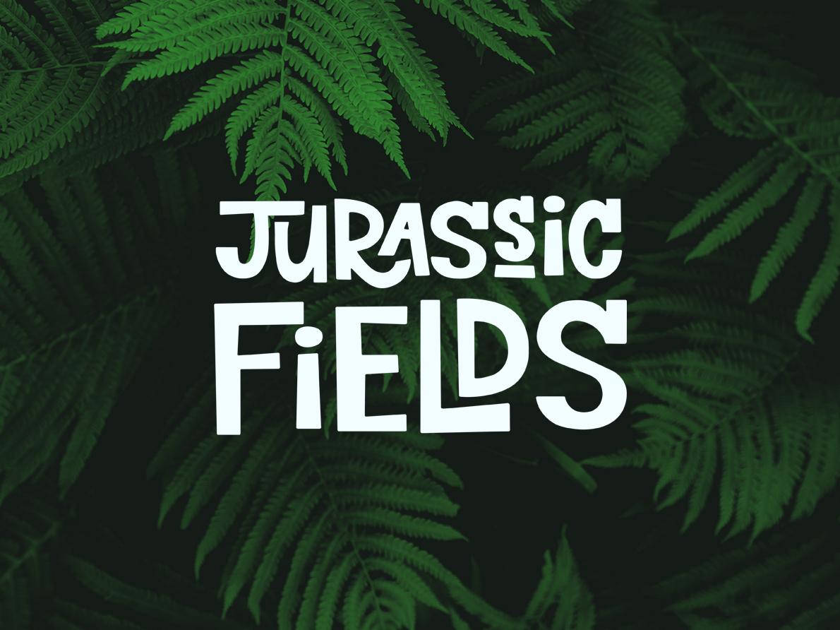 Jurassic Fields green plant fern prehistoric jurassic website web type lettering typography minimal logo identity icon graphic design flat design clean branding brand