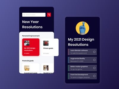 New Year Design Resolution | Dribbble Weekly Warmup design challenge happy new year 2021 happy new year 2021 designs to do list personal goals flat design self improvement design app user interface ui minimal illustration dribbble dribbble weekly warmup newyearresolution 3d art design