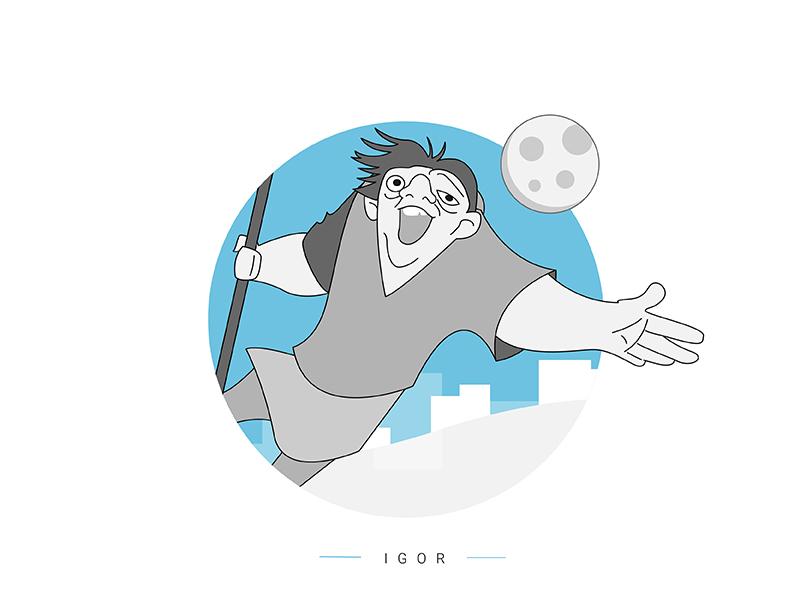 Igor | France hope love france notredame igor victorhugo illustration animation cartoon