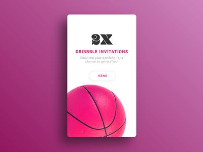 Dribbble invites visual shots portfolio invites invitation interface graphic experience design creativity
