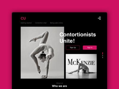 Contortionists Unite | Website Homepage
