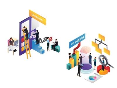 UI vs UX | Illustrated Infographics