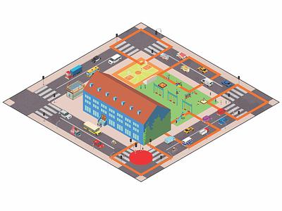 Game Illustration for 'Welcome To Rehab' game design interaction design ux design graphic design design illustration