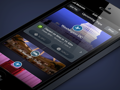 Trips expedia trips ios iphone app ui cards