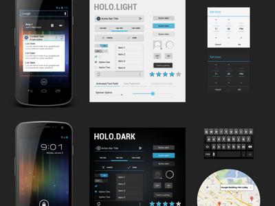 Freebie PSD: Android 4.0 UI android psd freebie ui ice cream sandwich