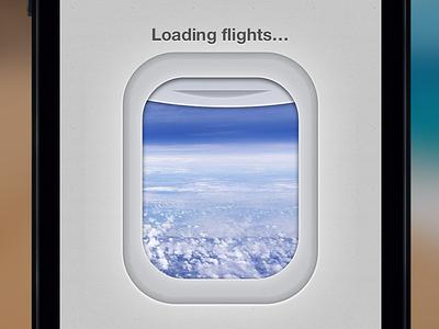 Loading Flights... loading plane window expedia flights sky