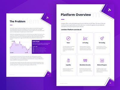 Lendster Whitepaper Design digitalbro lendster purple blockchaintechnology fintech cryptocurrency crypto blockchain whitepaper