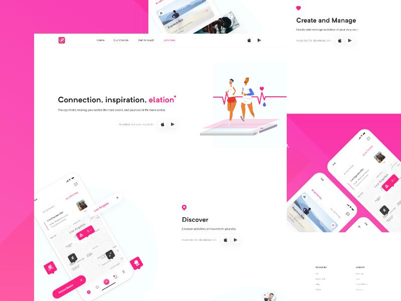 MyCrew App - Landing Page Prototype design fintech white landingpage app