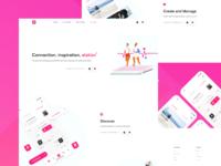 MyCrew App - Landing Page Prototype