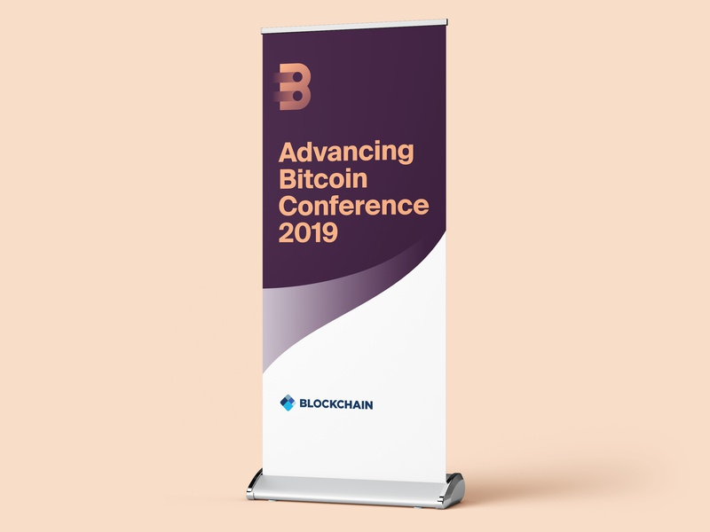 Advancing Bitcoin Conference - Pull up Banner print bitcoin illustrator branding design branding pull up banner