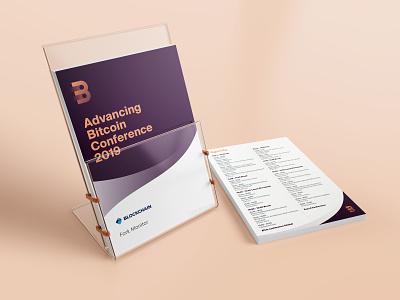 Advancing Bitcoin Conference - Flyer print flyer bitcoin branding
