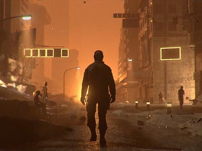 AUSTRALIA 2027 australia fires mixamo fuse after effects c4d cinema4d walk cycle 3d animation