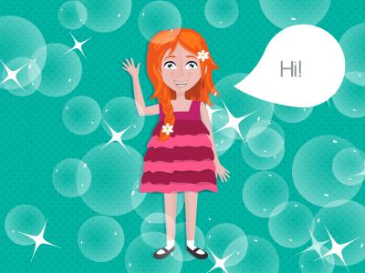 Washing Bubbles app kids washingbubbles character