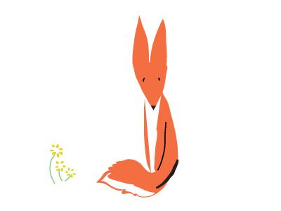 the fox wip illustration fox