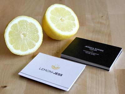 Business cards  creative personalbrand lemon yellow businesscard