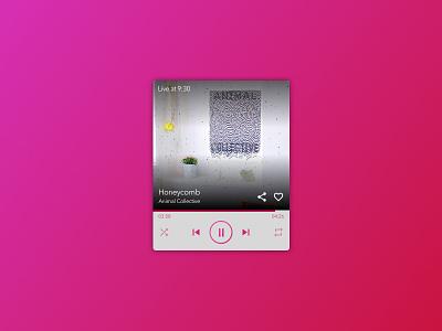 009 Music Player pink dailyui musicplayer 009