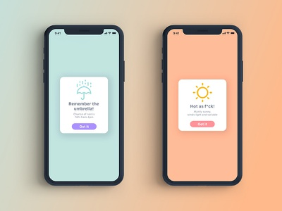Weather App / Overlay Hint dailyuichallenge concept graphic design illustration dailyui ui