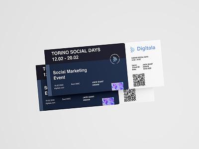 Digitala Branding elements 🎫 logo branding concept graphic design