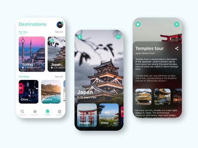 Travel App app dailyuichallenge dailyui ui branding ux concept graphic design