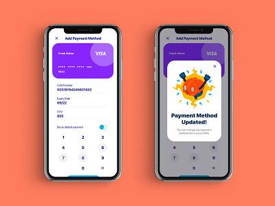 Payment Update UI payment app app dailyuichallenge ui brand dailyui branding ux concept graphic design