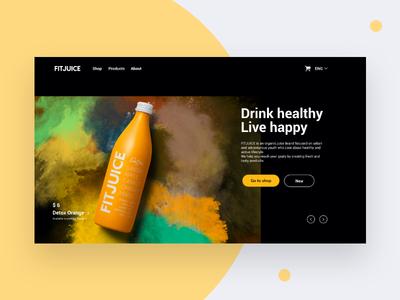 Fitjuice Landing page web logo brand ui branding ux concept graphic design