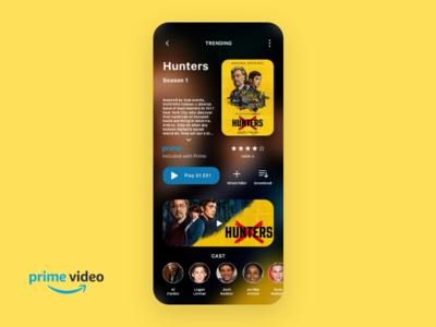 Amazon Prime Video App app ui brand dailyui branding ux concept graphic design