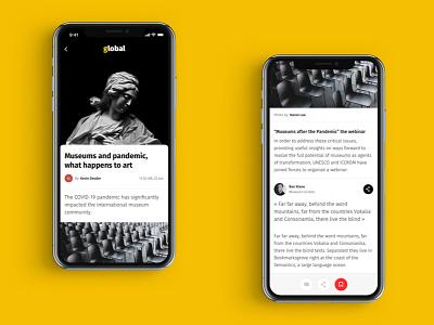 Global App - News from the world graphic ui logo dailyuichallenge brand branding dailyui ux concept design