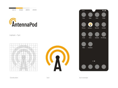AntennaPod podcast logotype icon logo