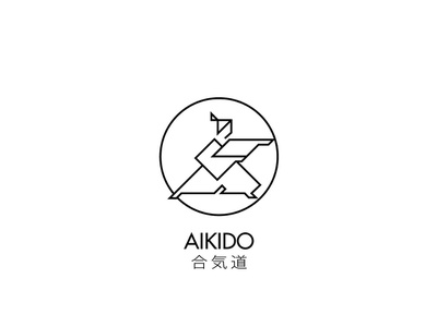 Aikido 合気道 logotype logo aikido