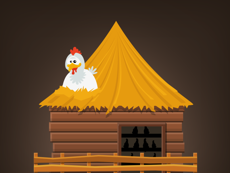 Coop: Kingdom Clicker coop vector town icon city 2d minimalism building game illustration flat
