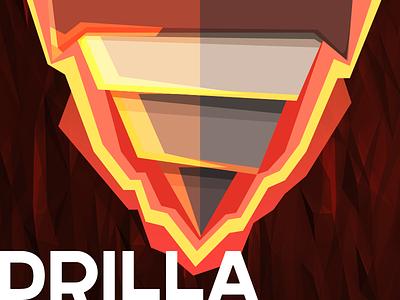 Drilla flat mine dig drill boer illustration ios drilla game