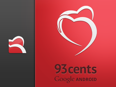 93cents — Charitable Service logo android icon heart 93 charity