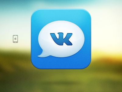 Dialogs for vk.com iPhone App Icon app icon iphone ios itunesartwork