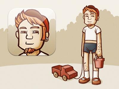 Mobile App Icon — Memoirs app icon ios iphone game illustration