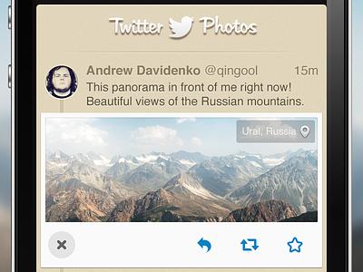 Twitter Photos — iPhone App ios iphone app photos interface