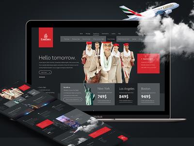 Emirates Airlines Web Concept elegant minimal web layout emirates ux ui design