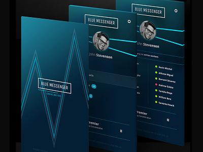Blue Messenger | Adobe Systems Canada communicator minimal elegant design product mobile app interface ui