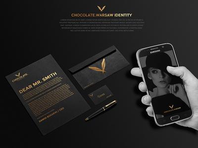 Chocolate Warsaw Branding | Models Agency modern gold black design logo elegant clean branding