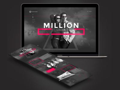 Million Colour / Kuala Lumpur poland ux ui grey pink bogucki modern clean dark layout web minimal