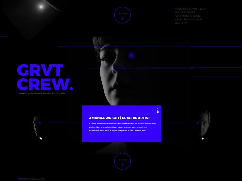 Gravity Warsaw Web | UI layout black scifi minimal modern warsaw ui web gravity