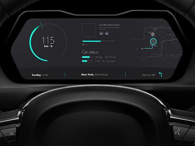 Car Dashboard Interface clean prestige design elegant interface minimal dashboard car