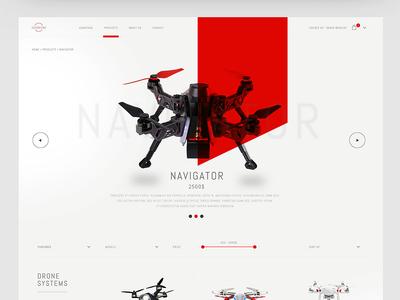 Drones360 | HongKong future elegant clean modern minimal layout website web ux ui design ecommerce