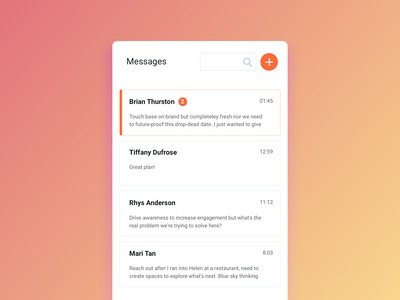 100 Days of UI — Day 13 — Direct Messaging