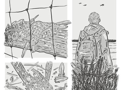 Fallow 1:15 Sketch horror sketch panel comics