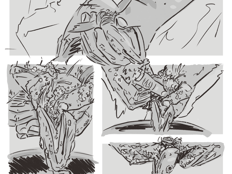 Catcher 1:1 creature boat shrimp psychological horror comics