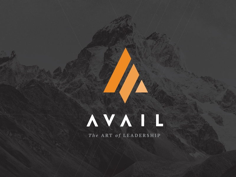 AVAIL Logo leaders mountains logomark typography branding logo