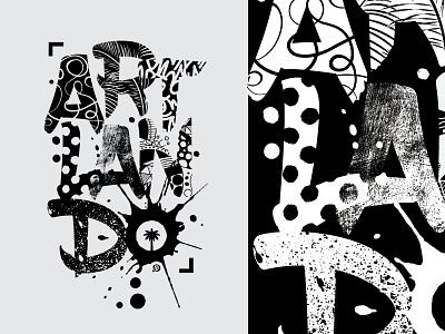 Artlando Artwork doodles painting typography art lettering design t-shirt art