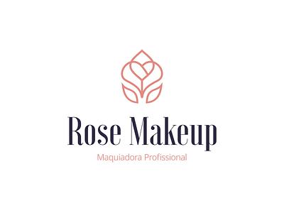 Design de Logotipo Rose Makeup (post 2/3) publicidade marketing digital dourados ms bruno henris estética maquiagem cosméticos marca designer design gráfico identidade visual logotipo