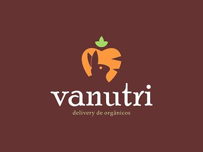 Design de Logotipo (post 2/3) Vanutri Delivery de Orgânicos logo consultoria de marca designer identidade visual logotipo identidadevisual douradosms brunohenris branding minimalist
